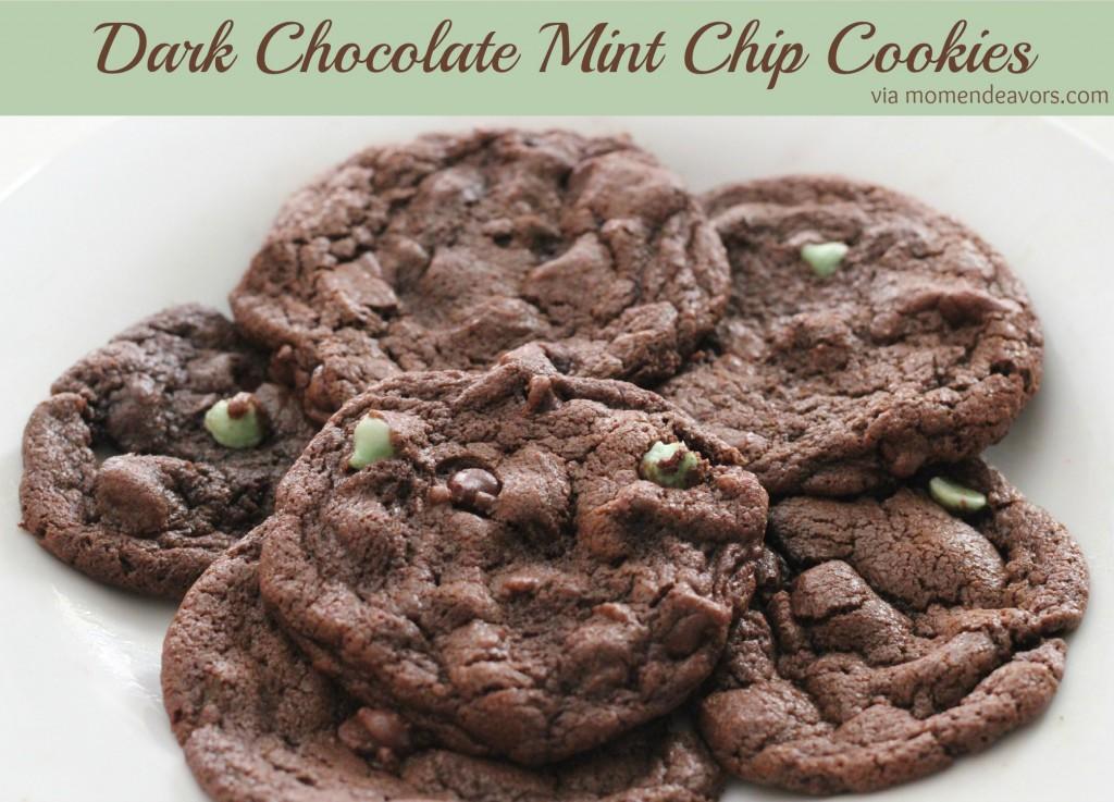 Dark Chocolate Mint Chip Cookies