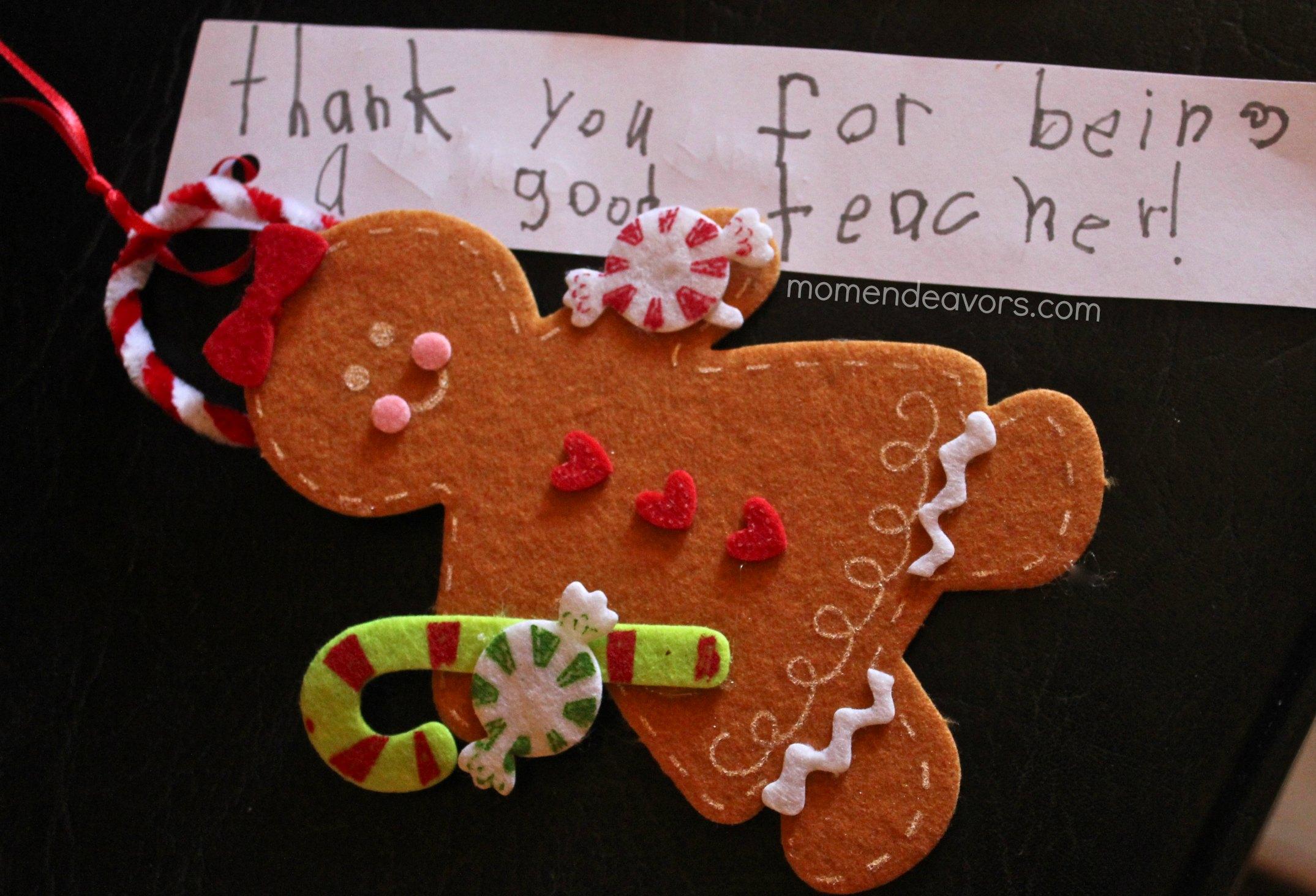 Gingerbread man ornaments - I