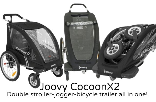 Joovy Cocoon X2 Review {Double Stroller-Jogger-Bicycle Trailer ...