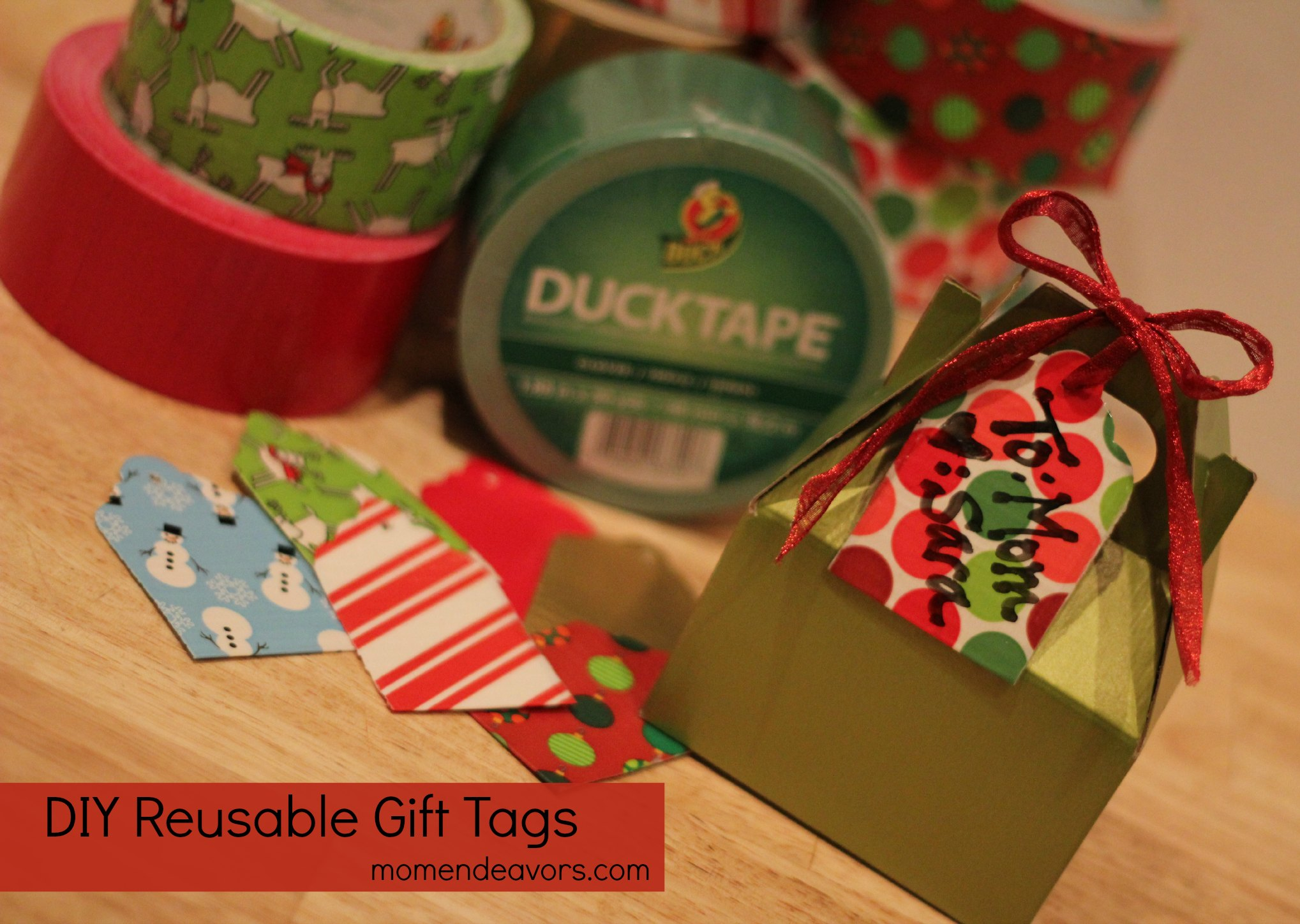 Diy Reusable Gift Tags With Holiday Duck Tape
