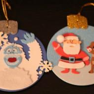 Fun, easy Rudolph foam ornaments!