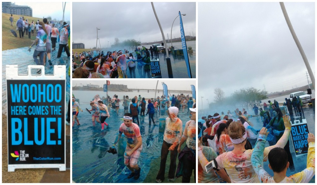 Blue color run station