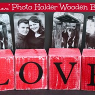"DIY ""Love"" Photo-Holder Wooden Blocks #LowesCreator"