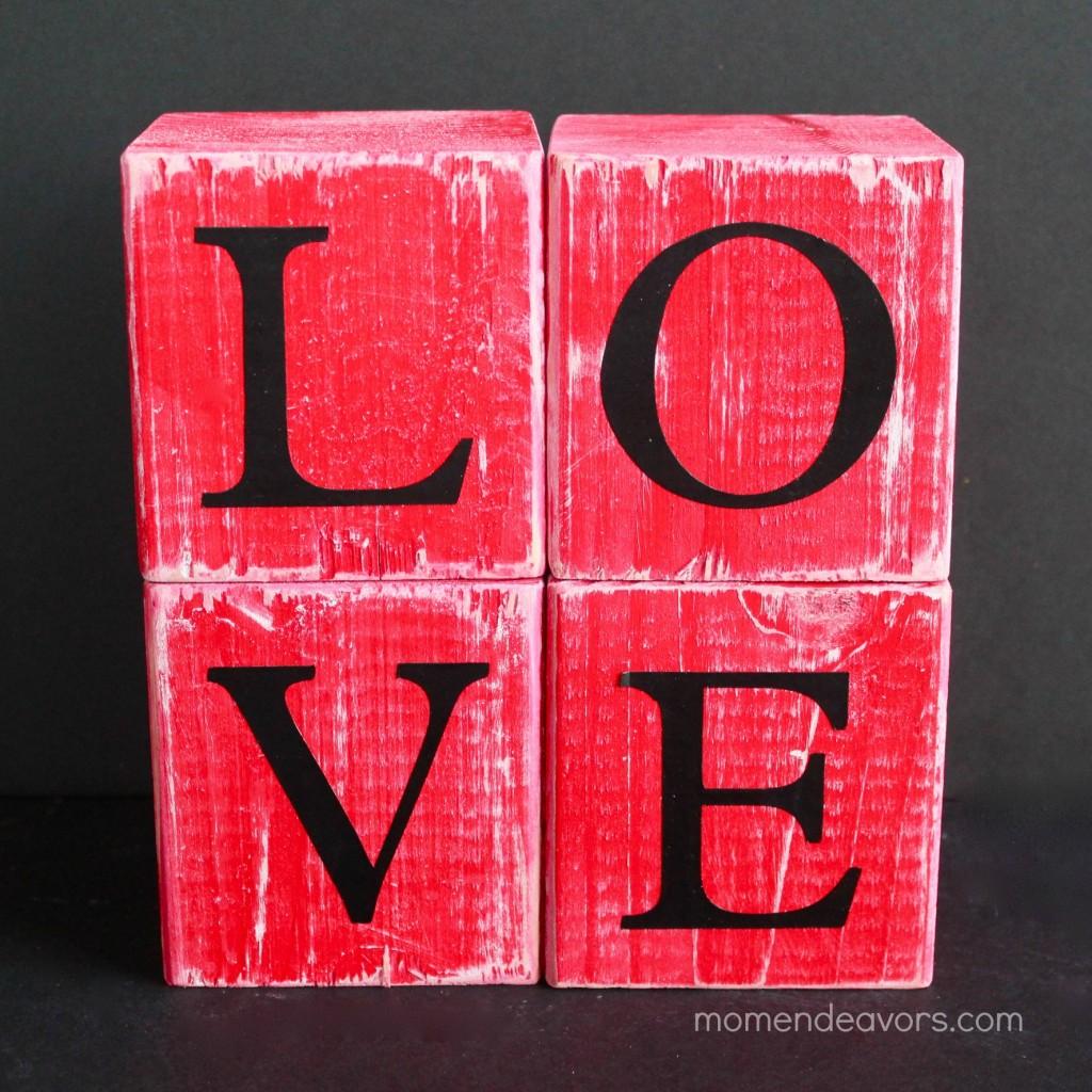 Love blocks - square