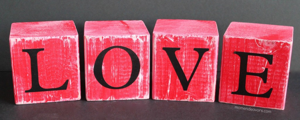 Diy Love Photo Holder Wooden Blocks Lowescreator
