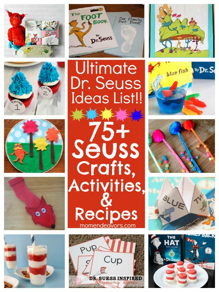 75+ Dr. Seuss Crafts, Activities, & Recipes