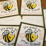 Bee Valentines {Free Printable}