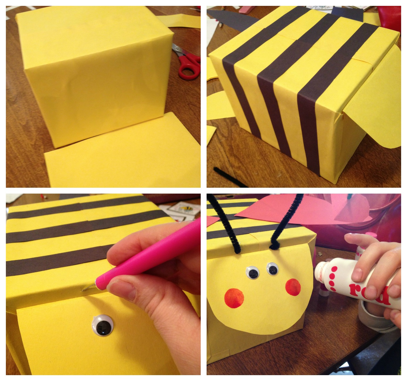 Creating a Bee Valentine Box