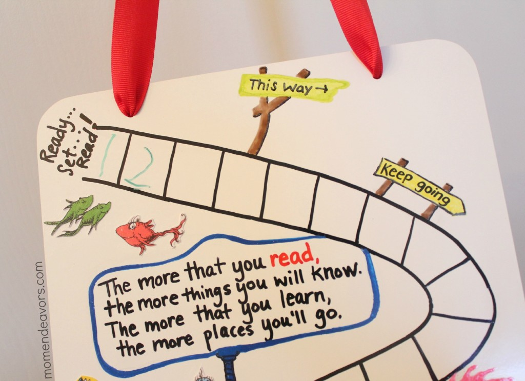 Dry erase Dr. Seuss Reading Chart