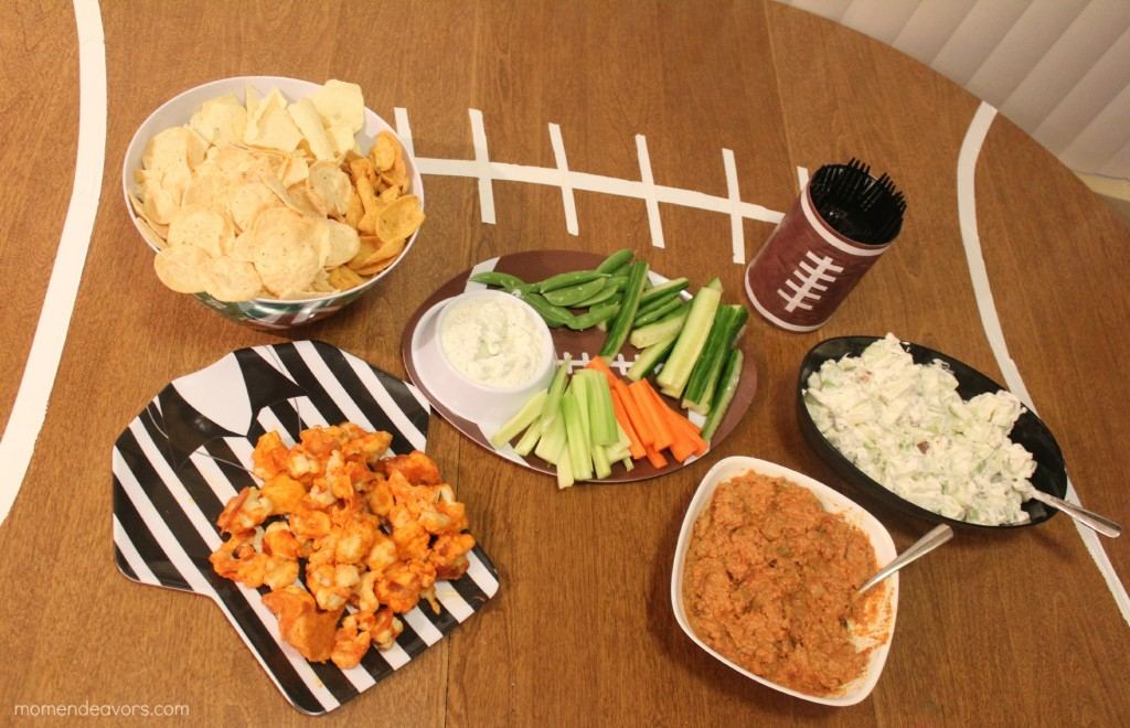 Healthier Big Game Football Spread