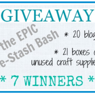 Epic Craft De-Stash Bash Giveaway!