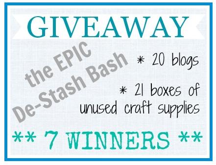 Craft De-Stash Bash Giveaway