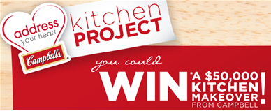 Campbell's Address Your Heart Kitchen Makeover Sweepstakes