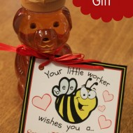 Bee-themed Teacher Valentine's Gift