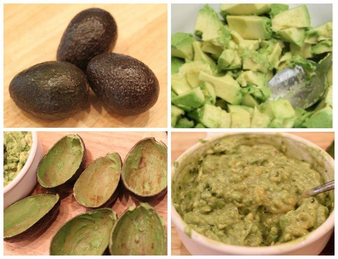 Avocado guacamole bowls