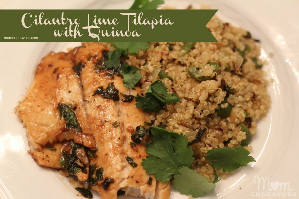 Cilantro Lime Tilapia with Quinoa