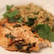 Cilantro Lime Tilapia with Quinoa Recipe