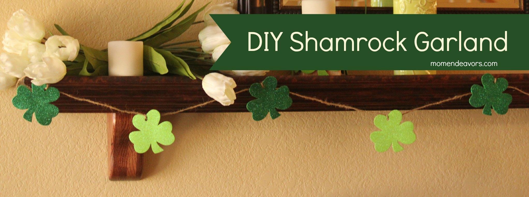 Quick & Easy DIY Shamrock Garland