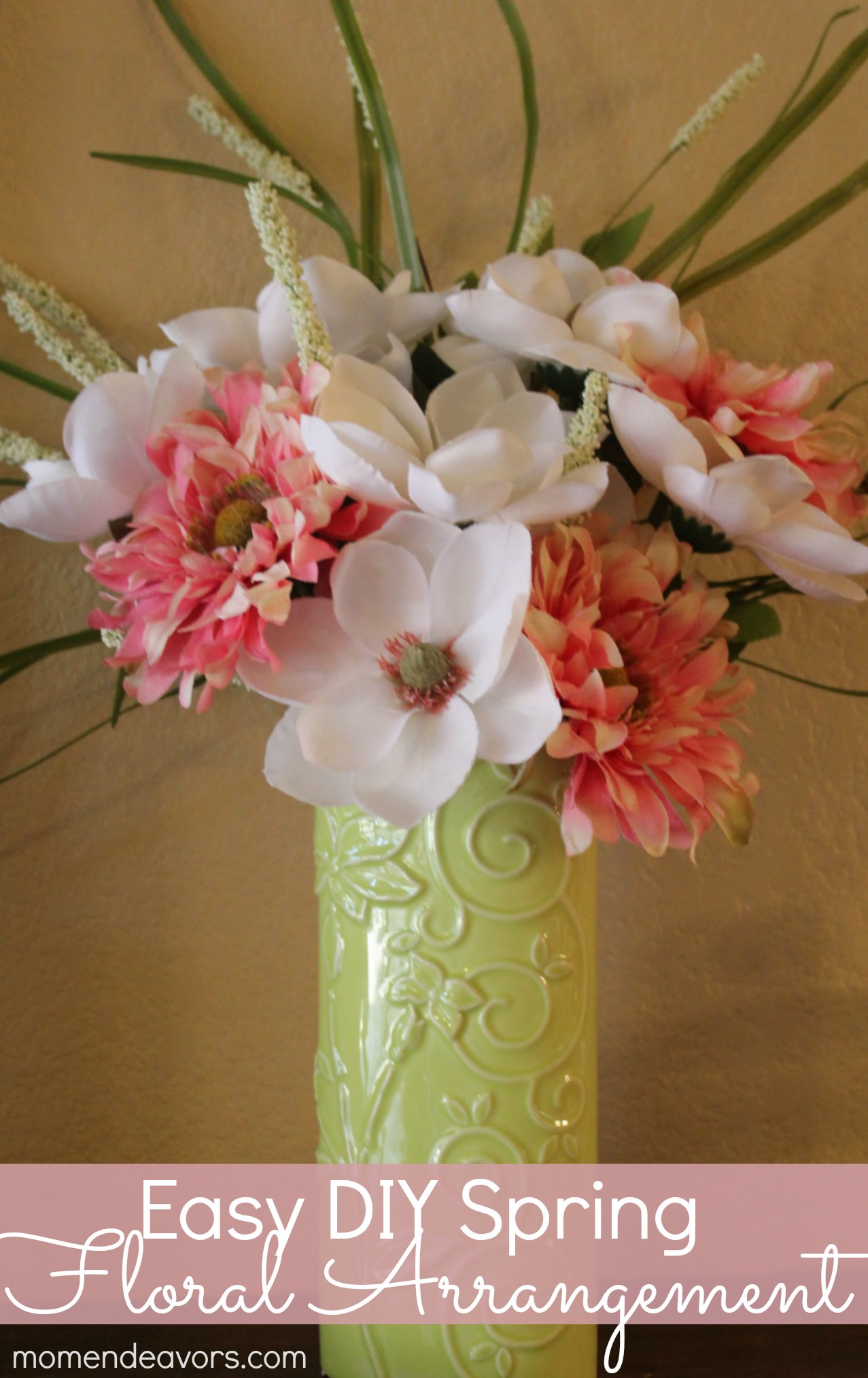 Easy DIY Spring Floral Arrangement