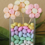 Edible Craft: Marshmallow Flowers Spring Centerpiece