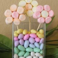 Edible Craft: Marshmallow Flowers Spring Centerpiece