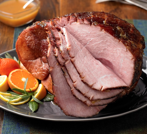 Grilled Ham with Citrus Glaze