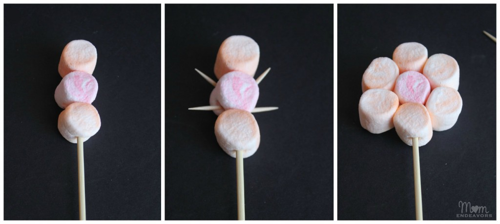 Making Marshmallow Flowers