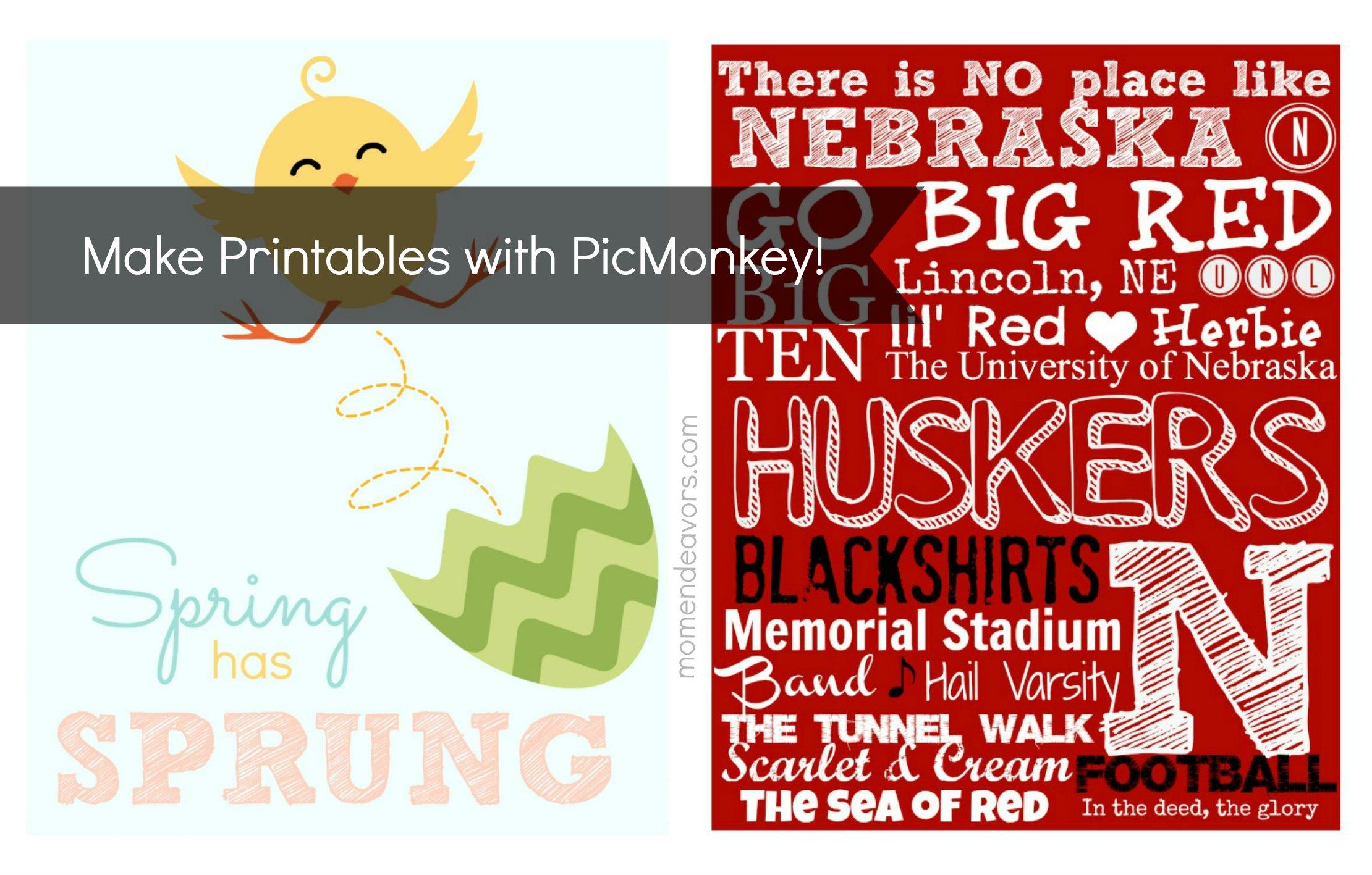PicMonkey Printables