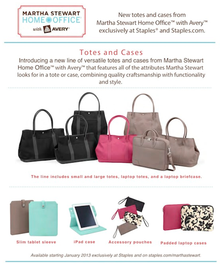 Martha Stewart with Avery Totes and Cases