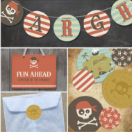 Pirate Party Decor from Minted