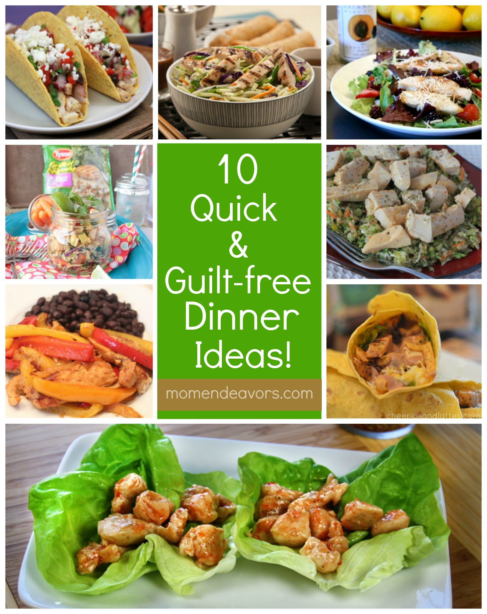 10 Quick Guilt Free Recipes