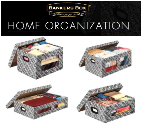 get organized with fellowes bankers boxes stackable storage system giveaway bankersbox - Decorative File Boxes