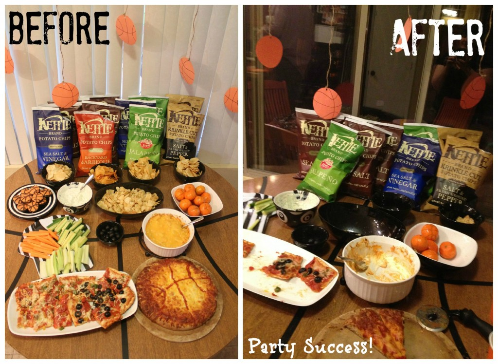 Basketball Party Before & After