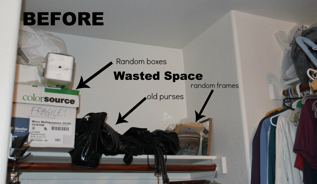 Closet nook before