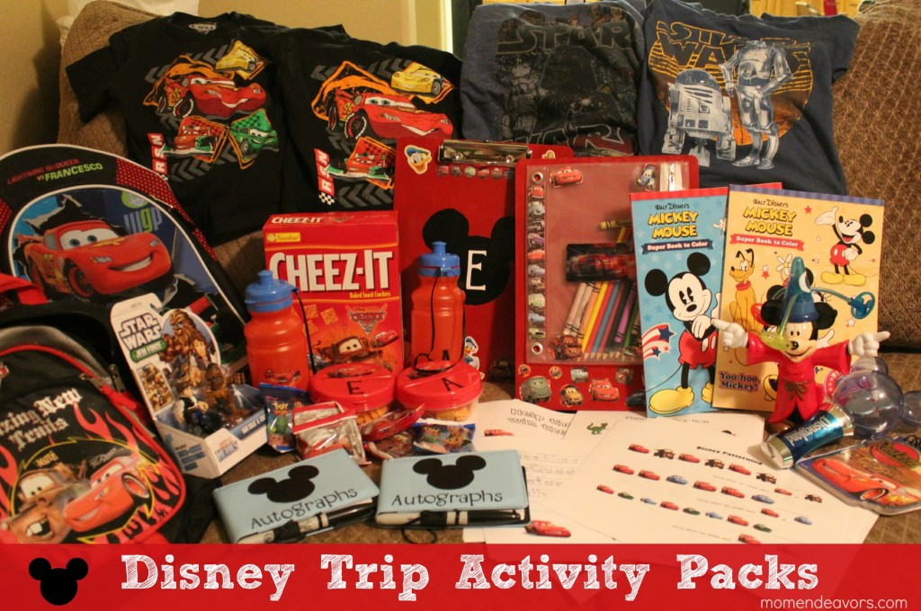 Disney Trip Activity Pack Items