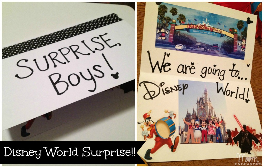 Disney World Surprise Card