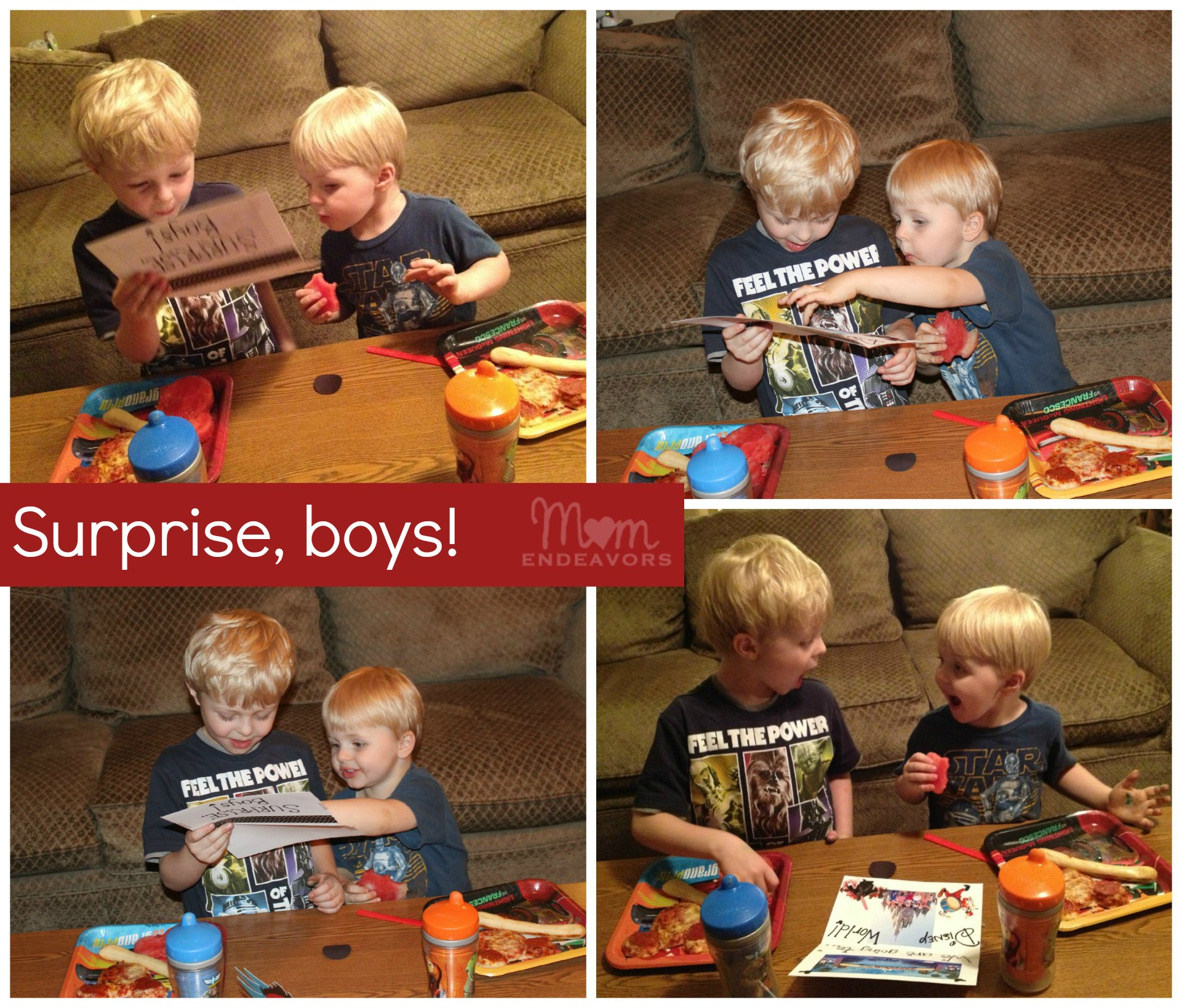 Surprise, Boys!! We're Going To Disney World! {Travel Tuesday}