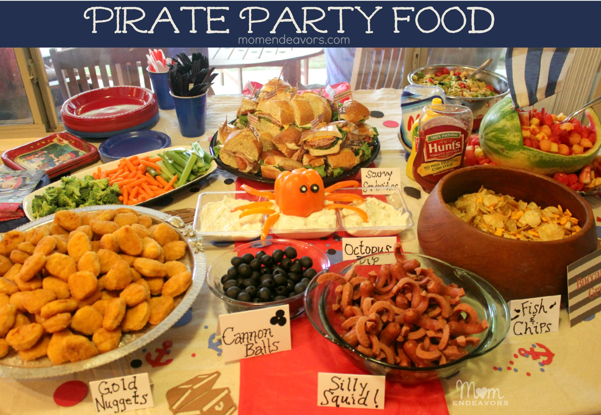 Jake and the Never Land Pirates Party Food Table