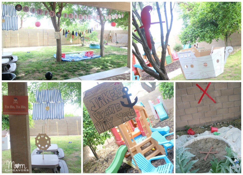 Jake and the never land pirates birthday party for Homemade garden decorations