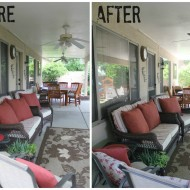 Patio Lighting & Ceiling Fan Makeover #LowesCreator