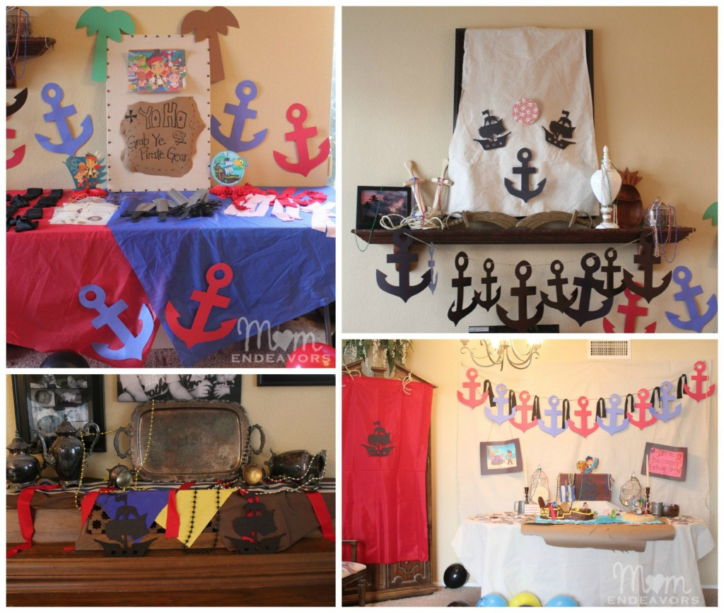 Jake and the never land pirates birthday party for Disco decorations diy