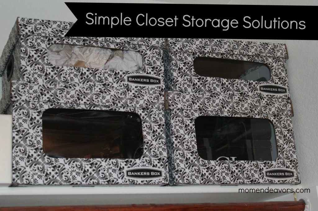 Simple Closet Storage Solutions