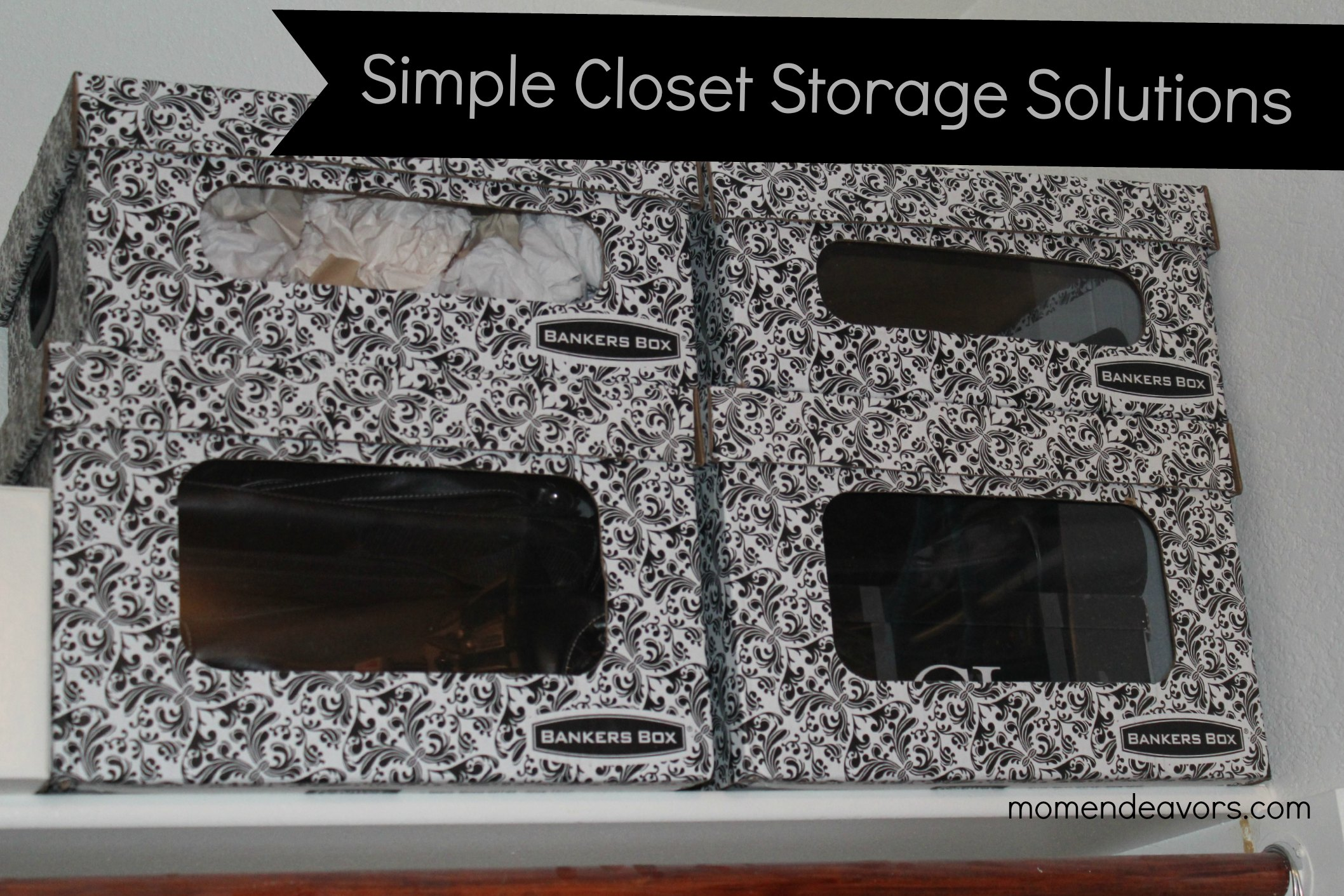 Closet Organization With Fellowes Bankersbox