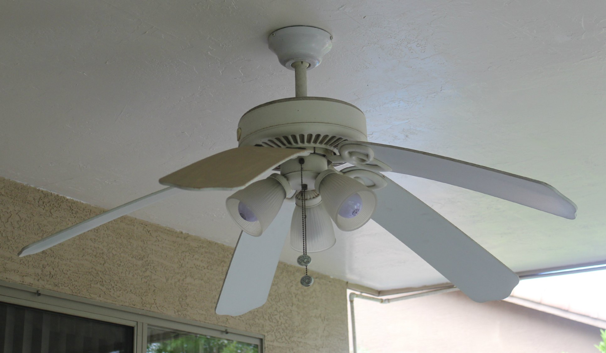Patio Lighting Amp Ceiling Fan Makeover Lowescreator