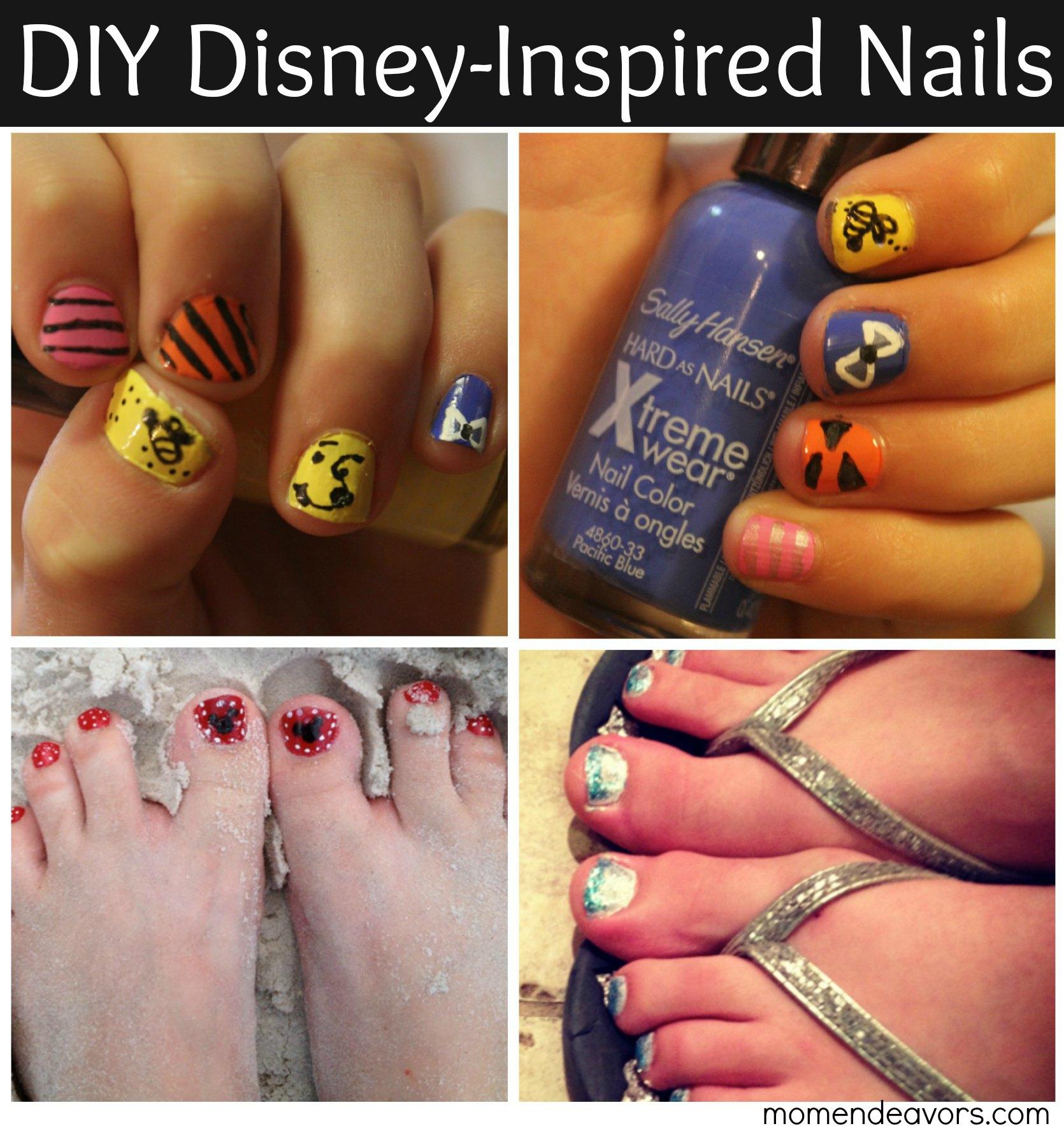 Diy disney inspired nail art iheartmynailart diy disney inspired nails solutioingenieria Images