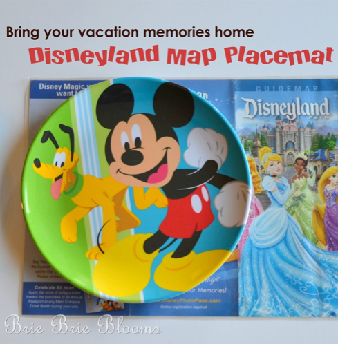 DIY Disney Map Placemat