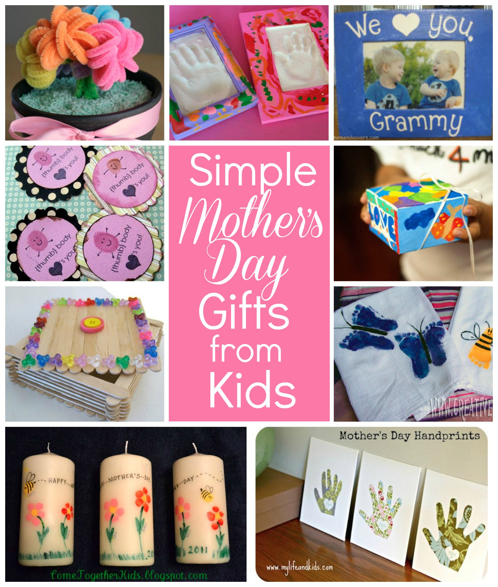 Simple mothers day gift ideas for grandma flower pot photo flowers mothers day crafts negle