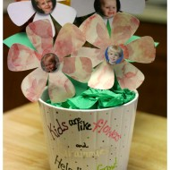 Simple Mother's Day gift ideas for grandma: Flower pot & photo flowers