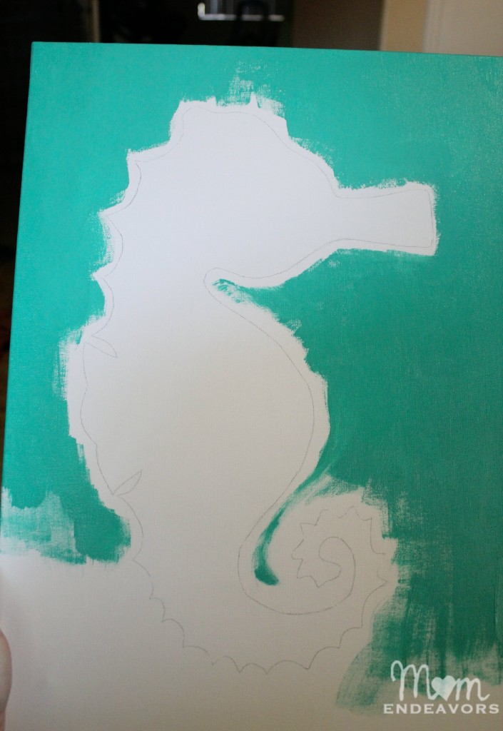 Painting a seahorse