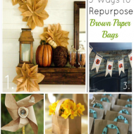 5 great projects using brown paper bags!